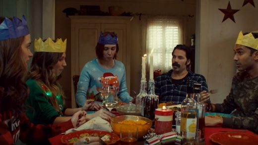 wynonna earp s03e06, christmas meeting dinner, wynonna, waverly, haught, holiday