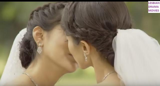 Sweetie Kiss In Lesbian Wedding