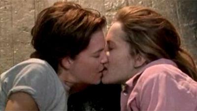Mango kiss 2004, lesbian kiss, tomboy lesbian